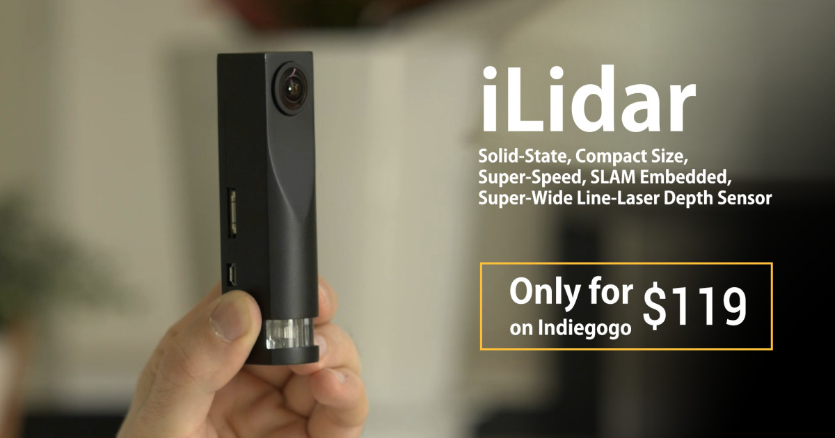 iLidar - LiDAR For Everyone, Hybo iLidar   Indiegogo