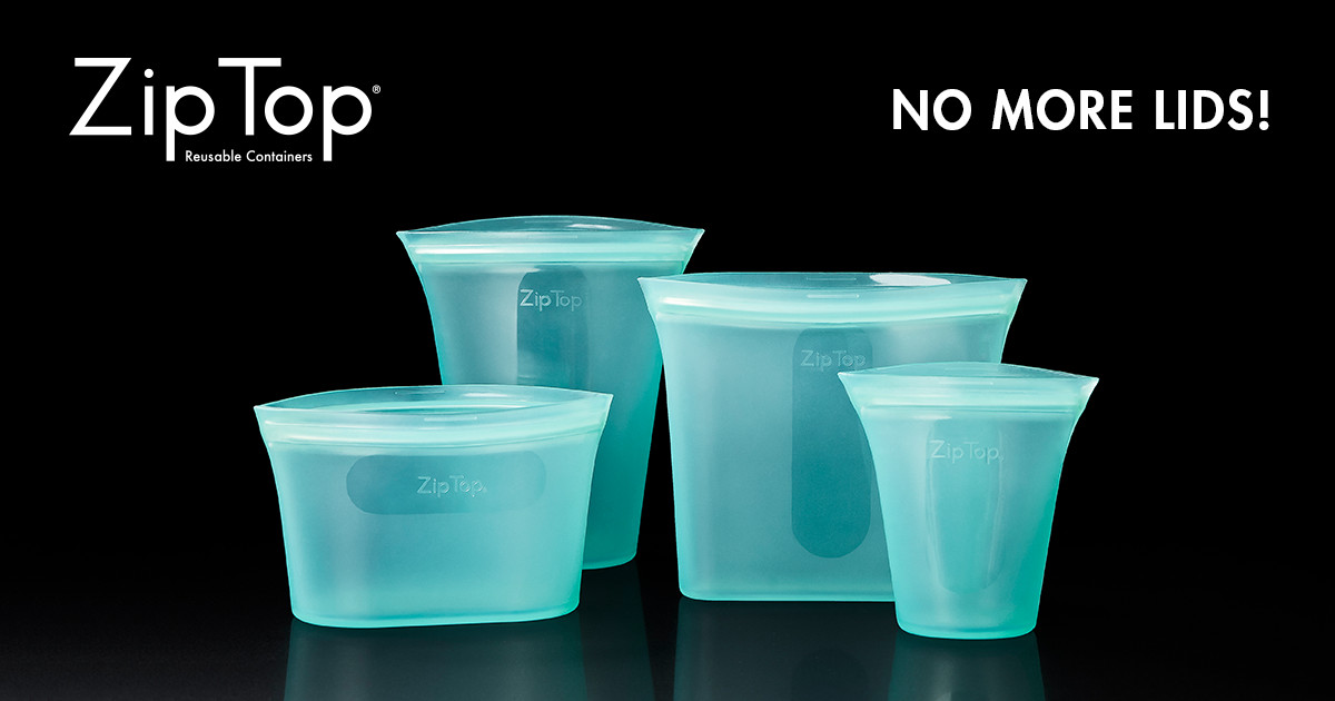 Zip Top Containers Stand Up, Stay Open & Zip Shut | Indiegogo