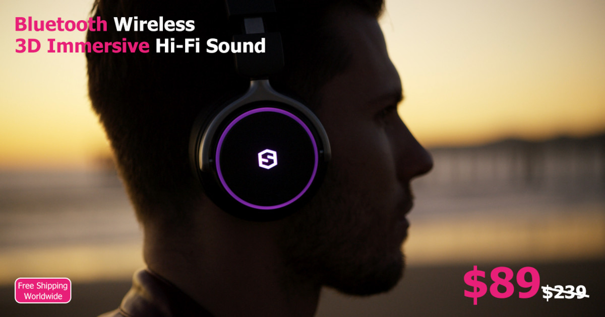 Surge 3D: The Ultimate Wireless 3D Hi-Fi Headphone | Indiegogo