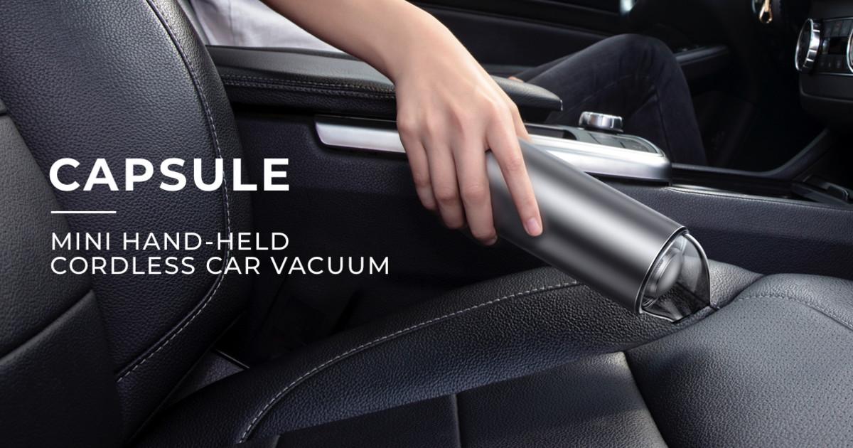 Mini Car Vacuum >> Capsule Handheld Portable Cordless Vacuum Indiegogo