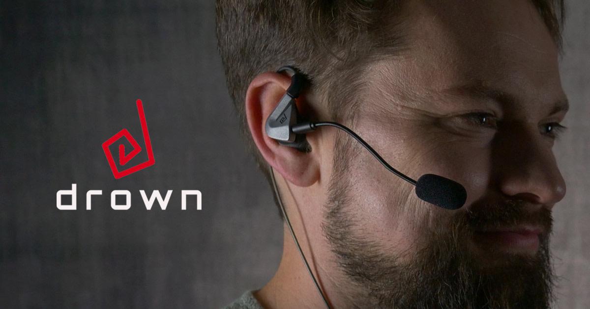 360°サラウンド再生するだけでなく、振動によって肌でも音を感じ取る事ができるヘッドセット「DROWN」
