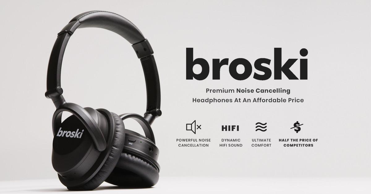 いつでも何処でも最高の音質でサウンドを楽しみたいのなら、ノイキャンに拘ったヘッドホン「broski Lety」