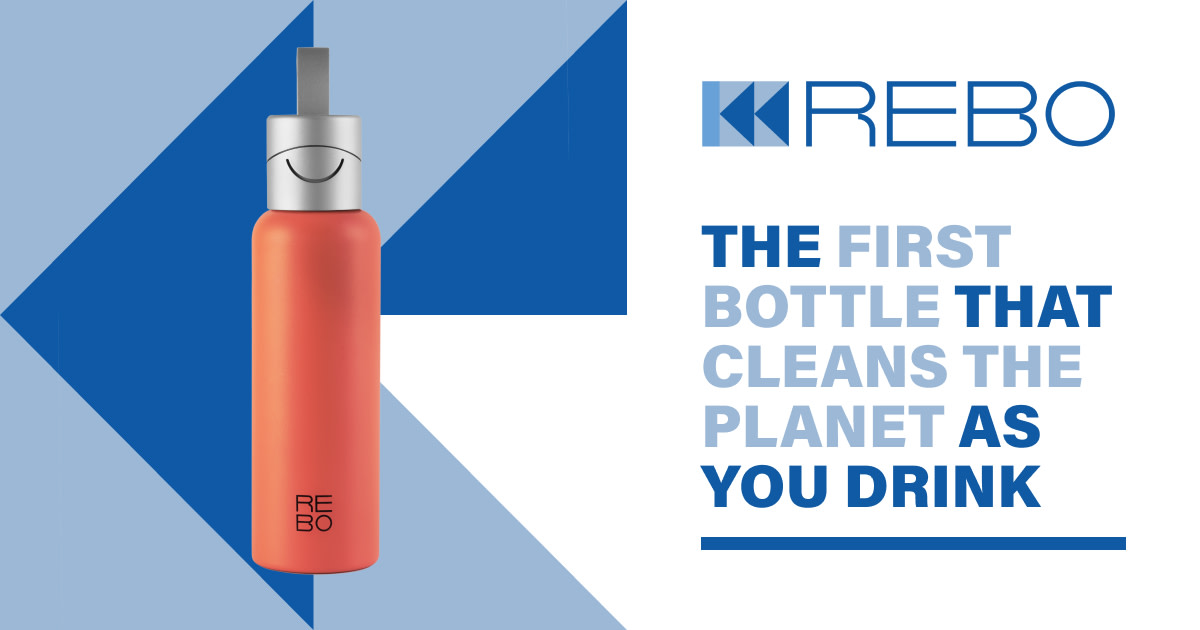 REBO smart bottle - clean the planet as you drink
