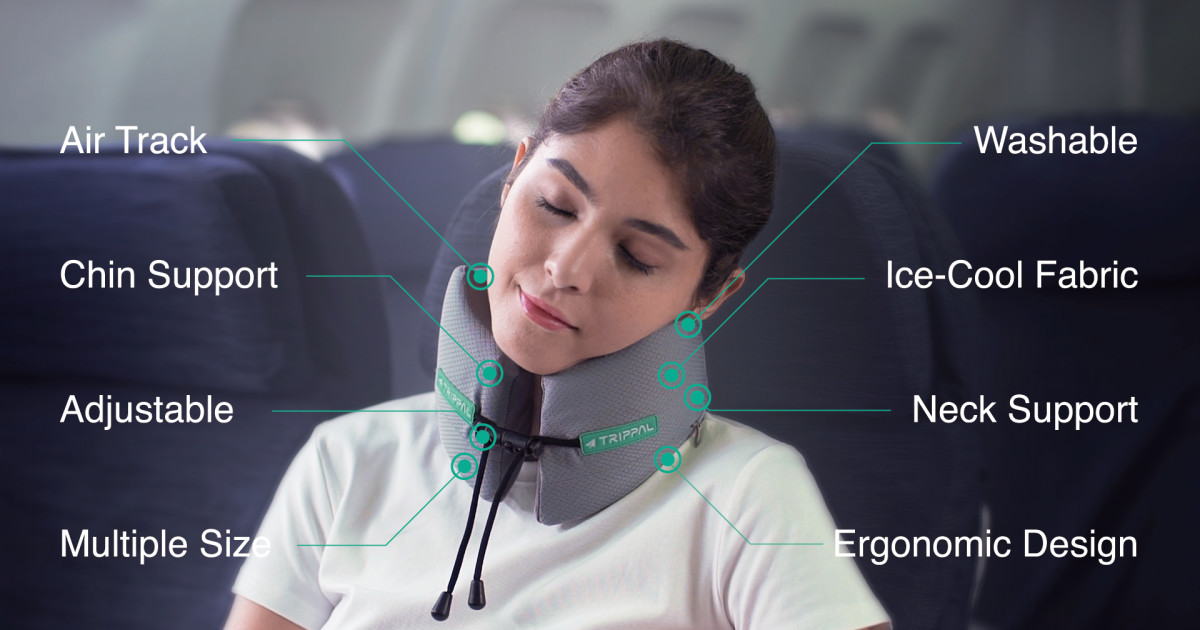 travel pillow with all rounded support