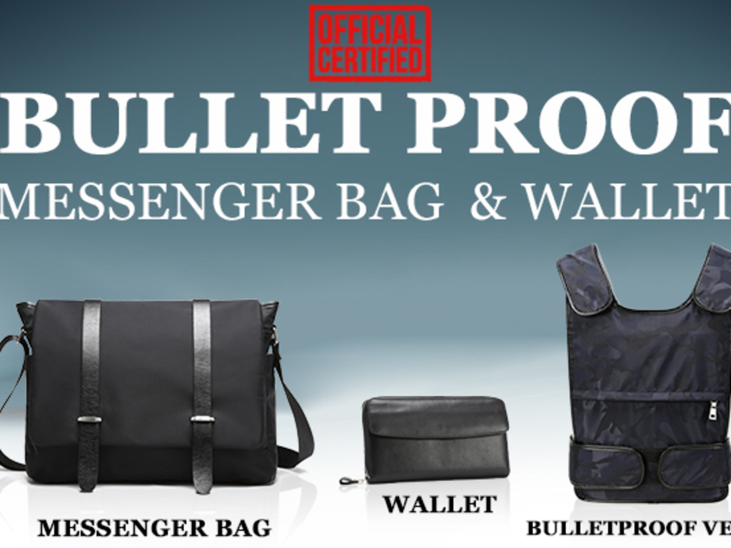 The Bullet Proof Messenger Bag and Wallet