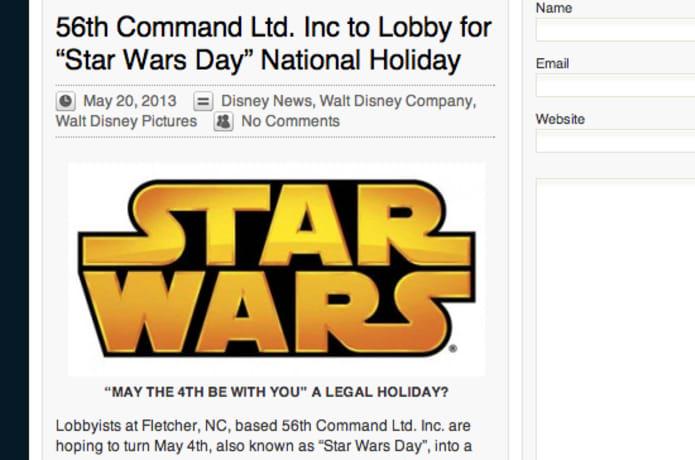Let's make Star Wars Day, May 4th, a National Holiday | Indiegogo