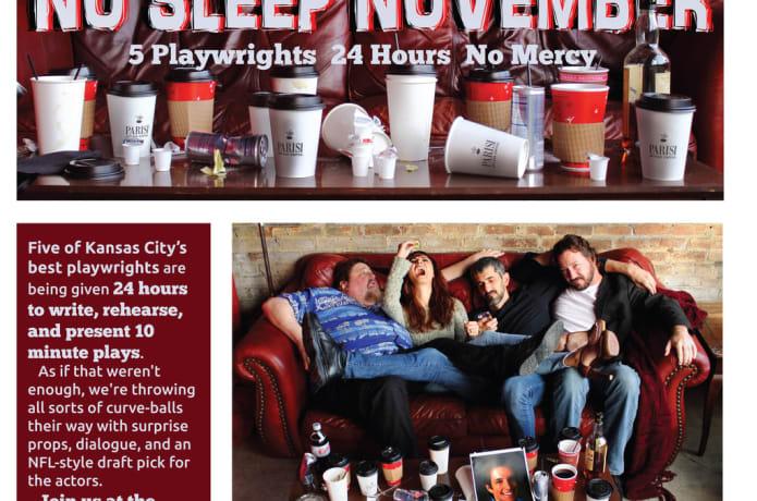 No Sleep November, 5 plays in 24 hours    Indiegogo