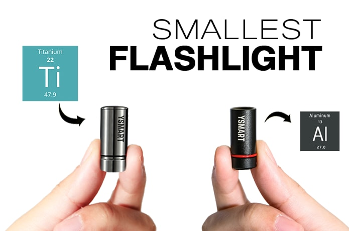 b527485d005 The World Smallest EDC Flashlight with Magnet Base