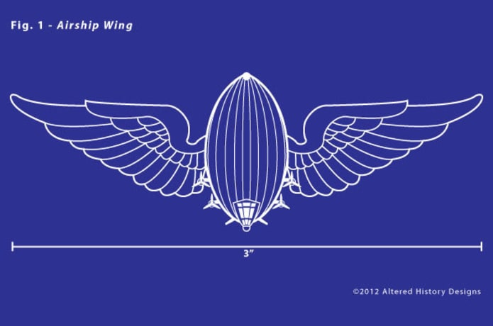 Airship Wing Pin - American Made | Indiegogo