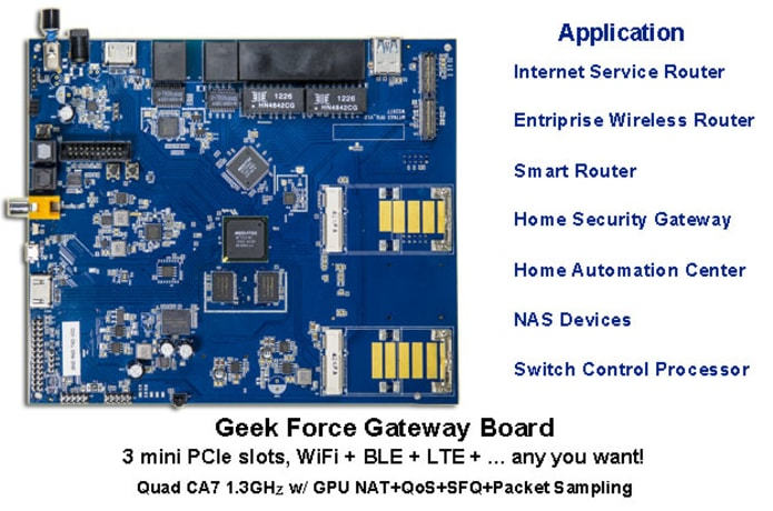 Geek Force-The 1st Android and Linux Router Board | Indiegogo