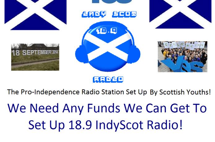 Raise Funds for Pro-Scottish Independence Online Radio