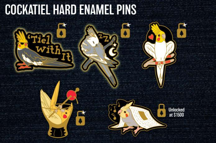 Tiel With It - Cockatiel Hard Enamel Pins | Indiegogo
