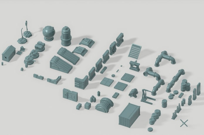 image relating to 3d Printable Terrain identify short article apocaliptic tabletop 3d printable terrain Indiegogo