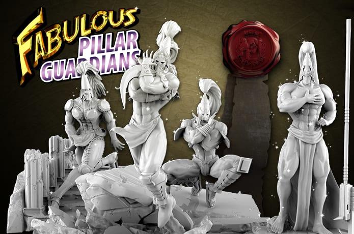 Fabulous Pillar-Guardians Tabletop Miniatures | Indiegogo