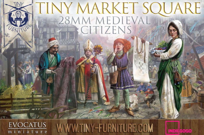 922e408ee58 Tiny Market Square - 28mm medieval citizens.
