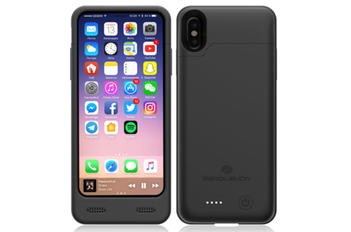 brand new 20a32 1c277 ZeroLemon iPhone X 4000mAh Charging Battery Case | Indiegogo