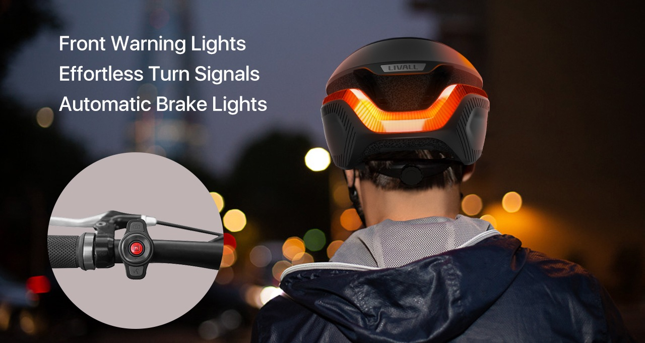 With angle-adjustable front light and 270° rear lights, LIVALL actively offers safety to your cycling. You can signal your turning and stopping clearly right from your handlebar.