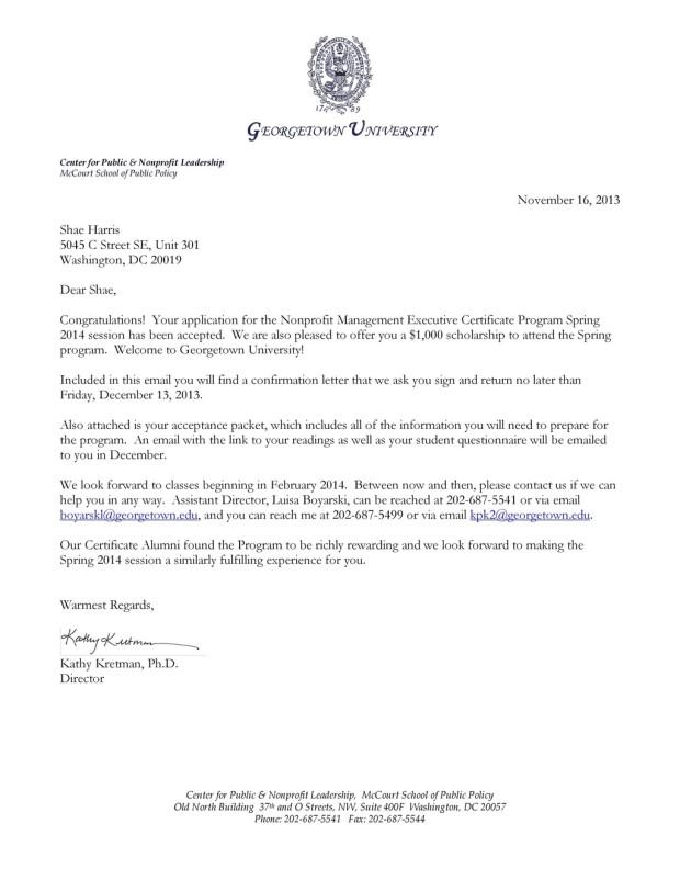 Get Shae To Georgetown Indiegogo