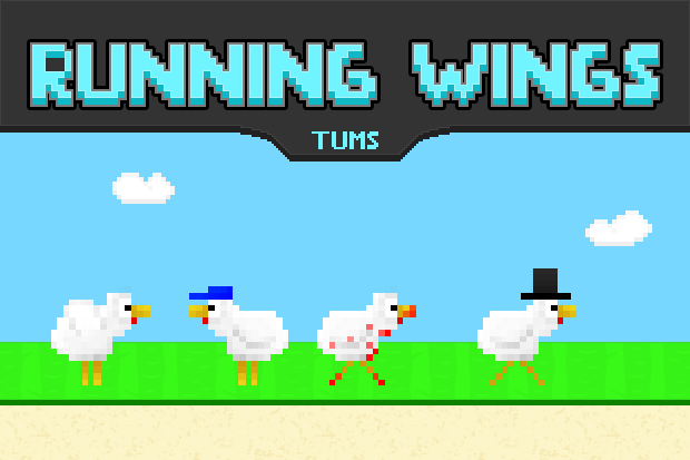 Running Wings Jump N Run Chicken App Indiegogo - Minecraft horror hauser