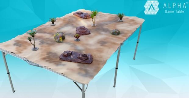 alpha game table portable game surface indiegogo