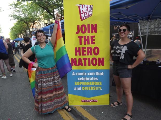 Hero Nation with rainbow flag