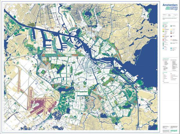 Groene kaart van Amsterdam. | Indiegogo