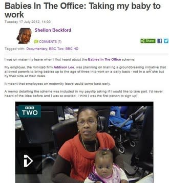 Bringing New Life to the Workplace: The Babies-at-Work Story