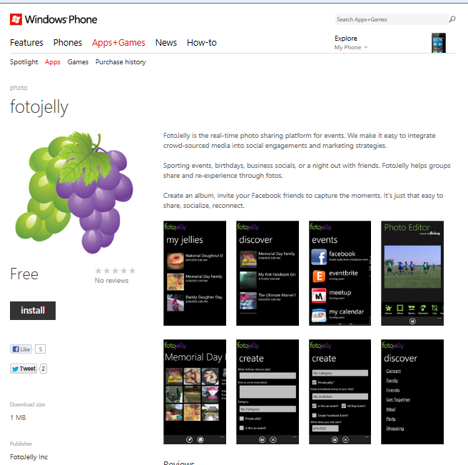 The Photo Sharing App for Windows 8 Phones & Tablets
