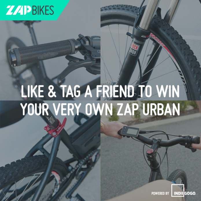 ZAP - World's lightest electric bike in its class  | Indiegogo