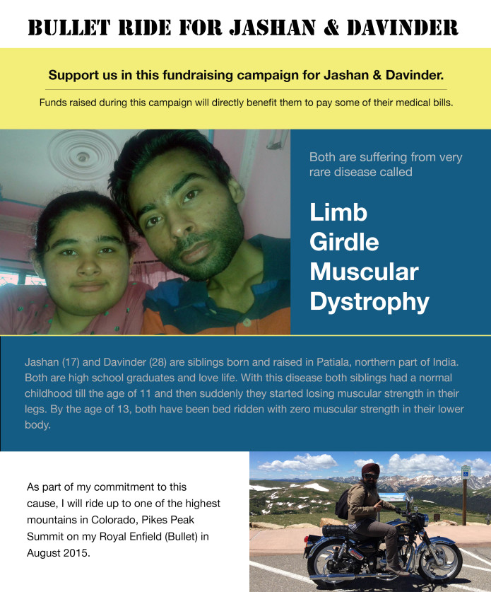 Bullet Ride for Jashan & Davinder | Indiegogo