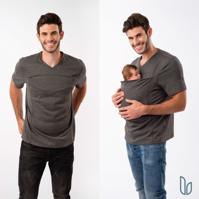 1ac90a8f9 The Soothe Shirt & Dad Shirt: Simple Babywearing | Indiegogo