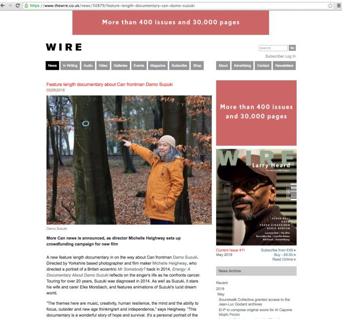 ENERGY: A DOCUMENTARY ABOUT DAMO SUZUKI | Indiegogo