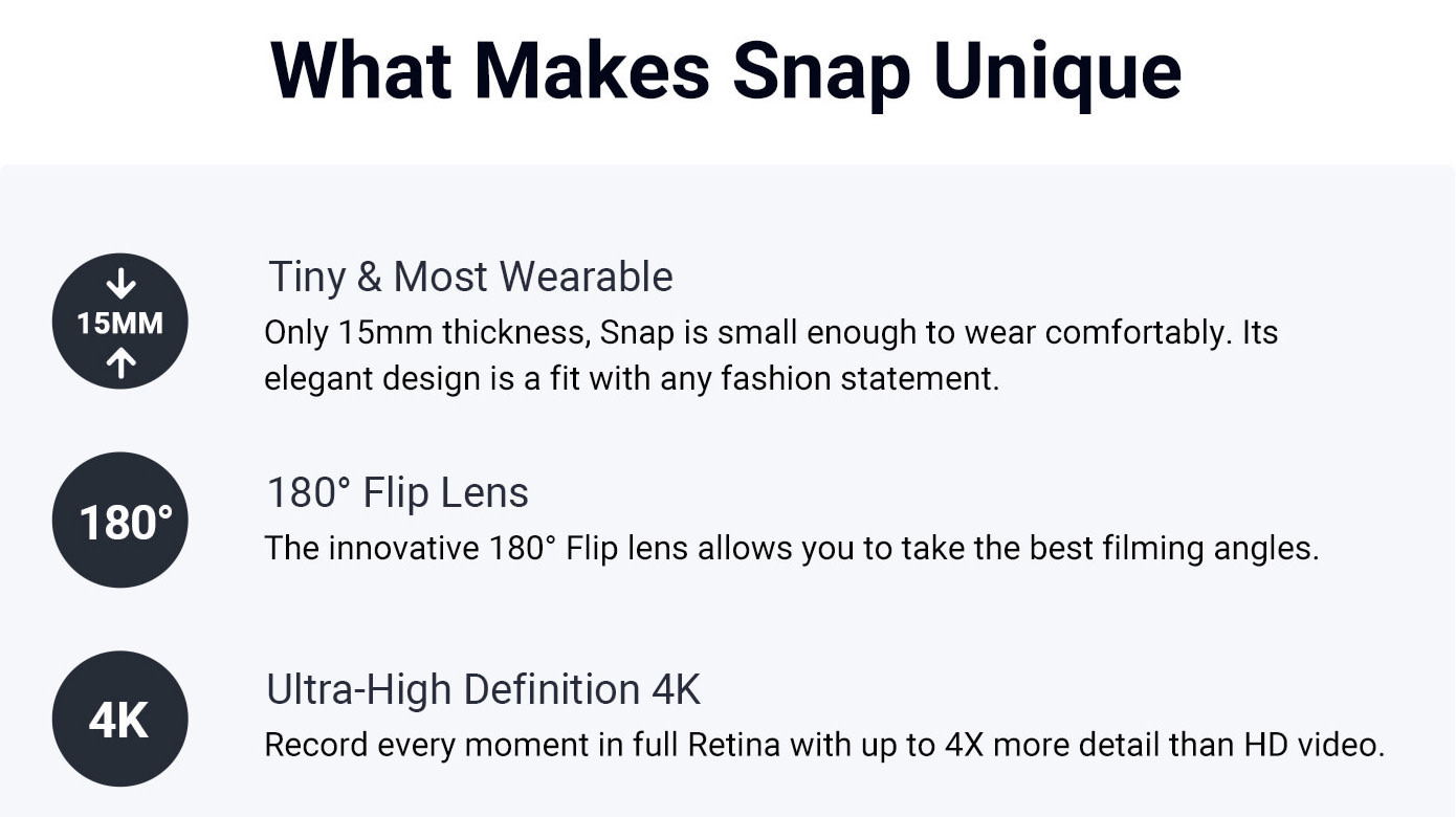 snap the smallest affordable 4k action camera indiegogo