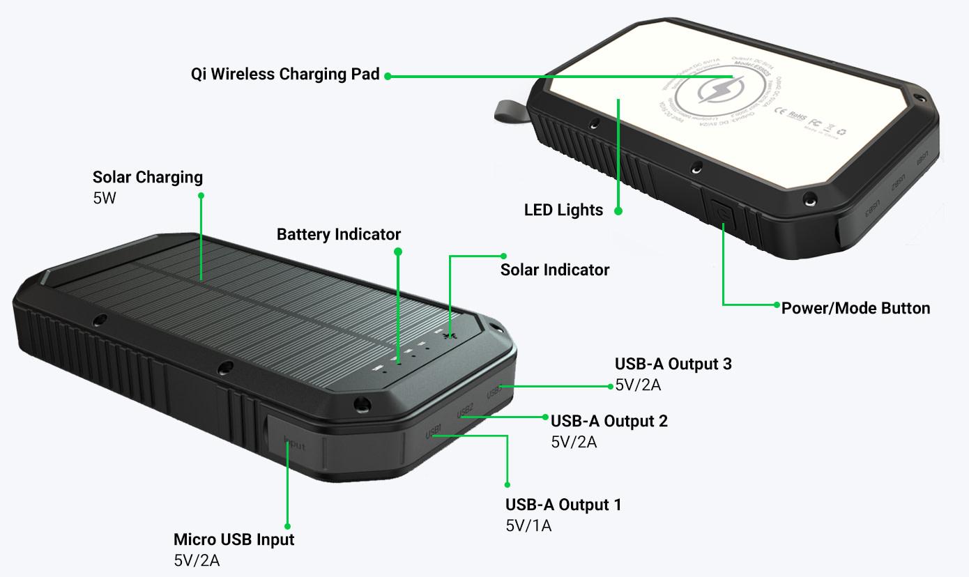 Solar 5v Supply Using 2 Garden Lights