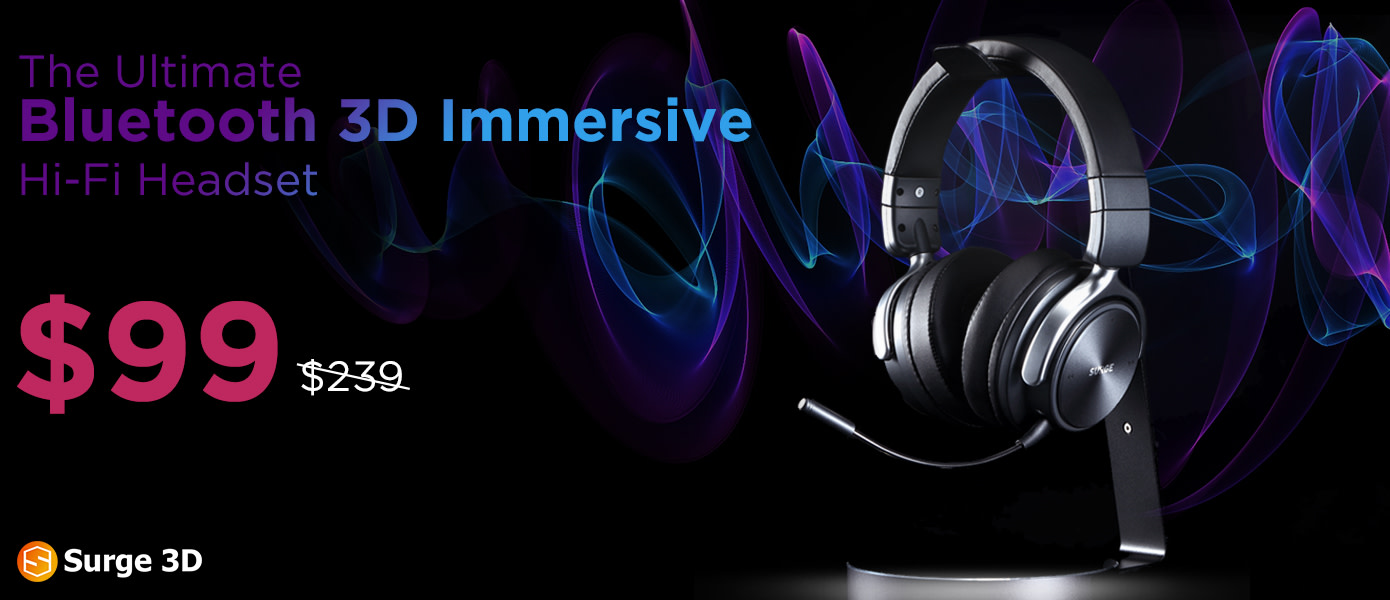 3c004c016c0 Surge 3D combines next level 3D audio technology with the latest bluetooth  wireless connectivity, producing an accurate immersive 3D sound with  patented ...
