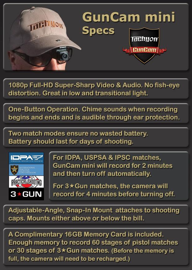 tachyon guncam mini, specs