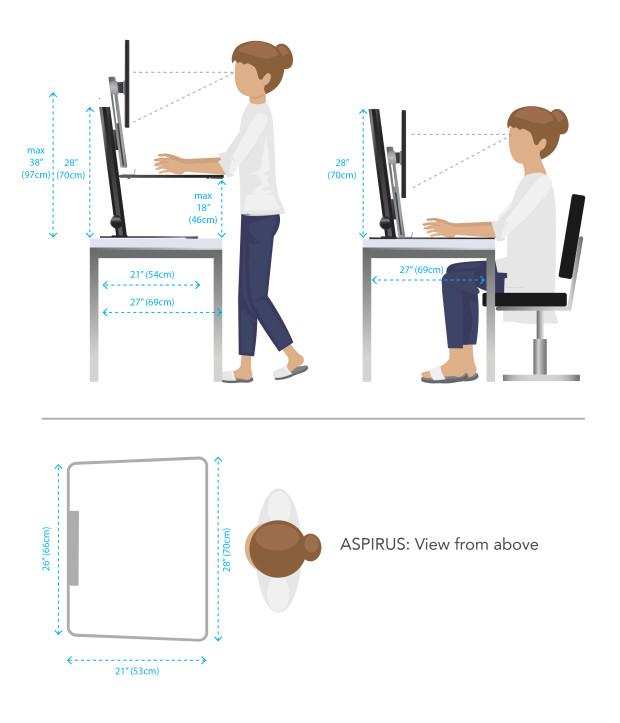 Aspirus Worlds First Smart Standing Workstation Indiegogo