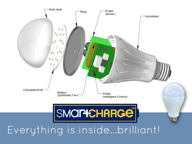 SmartCharge 2 0: The world's first LED light bulb that works from