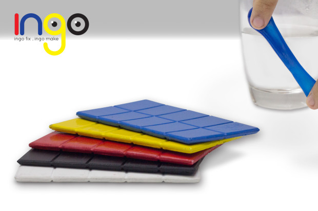 INGO Biodegradable Polymer with non-toxic coloring. A successful campaign funded in Indiegogo.