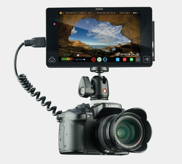 Panasonic GH4, with an Atomos Shogun
