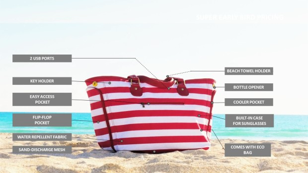 DEZZIO - The World's First Functional Beach Bag