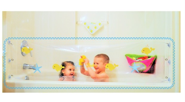 The Splash Baby Is A One Size Fits All Retractable Guard That Keeps Water  Inside Bathtub