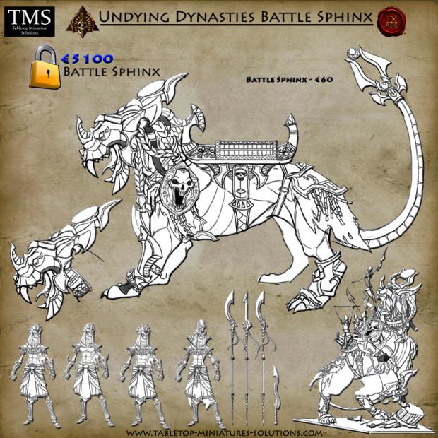 Nouvelles figurines des Dynasties Immortelles sur Indiegogo 6_battle_sphinx_tanazv