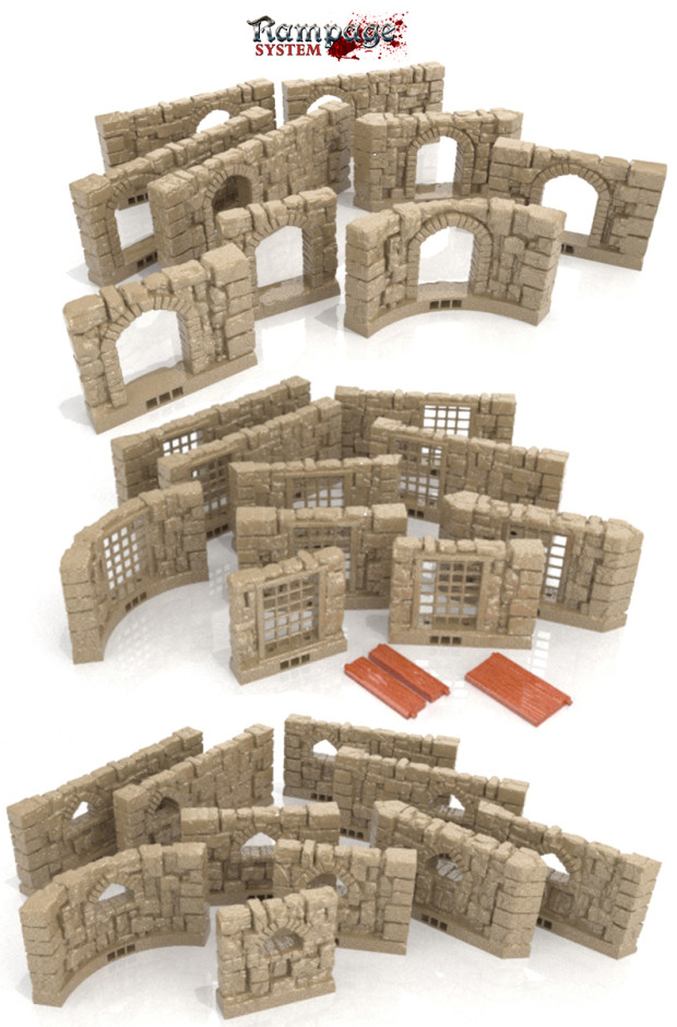 Rampage 3d Printable Scenery Building System Igg