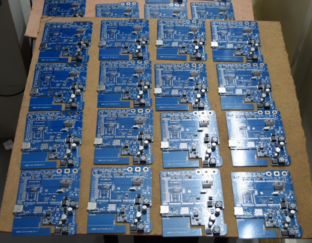 Partially soldered evive PCBs