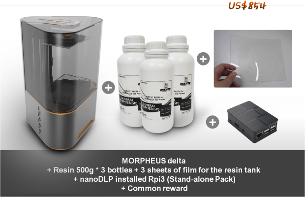 MORPHEUS delta, a revolutionary personal resin 3D printer