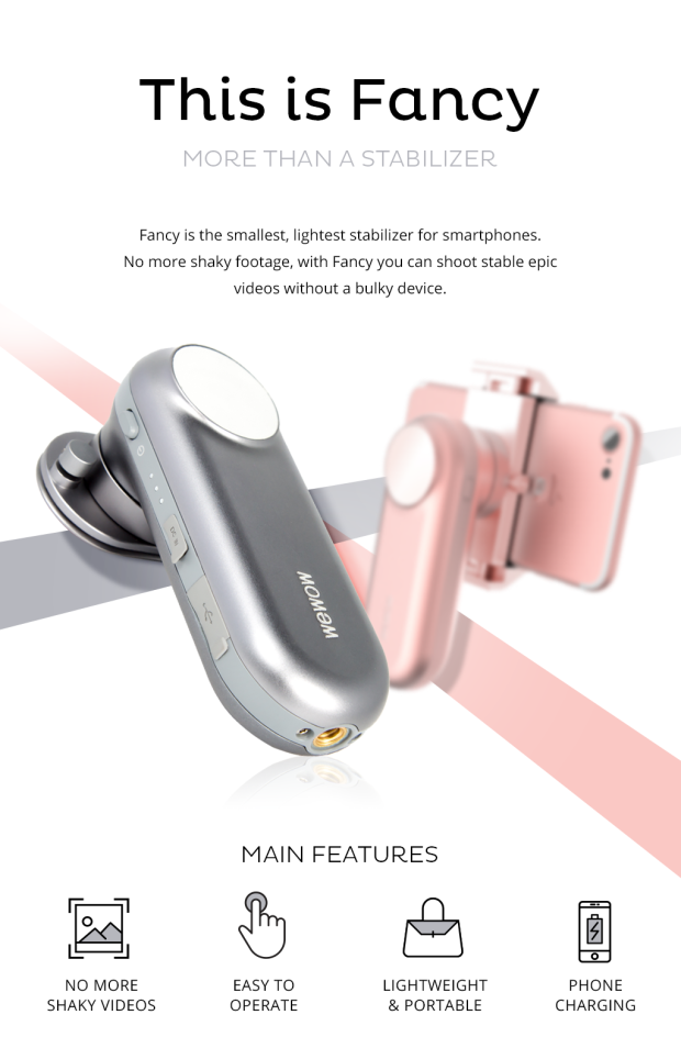fancy world s smallest stabilizer for smartphone indiegogo