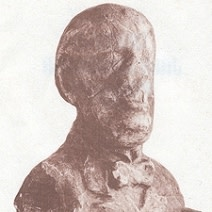 J. Cimrman's bust - no one knows what he looks like.
