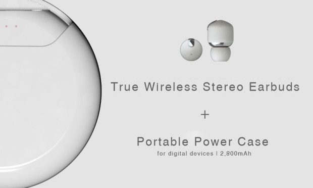 10c321ca073 Air Twins is designed to create a new combination of Wireless Earbuds and  Power Bank. By integrating a smart spinnable cover on the power bank, ...