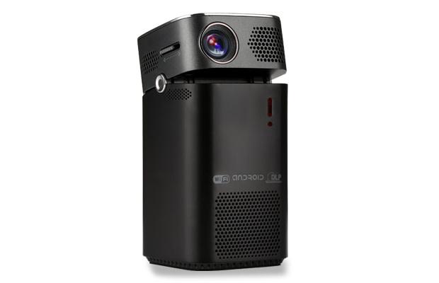 keruo l7 portable smart projector have a big screen in